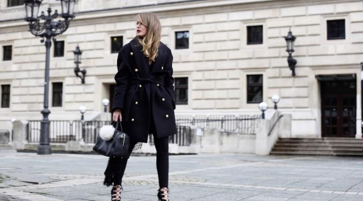 Balmain x H&M Coat And Lace-Up Heels