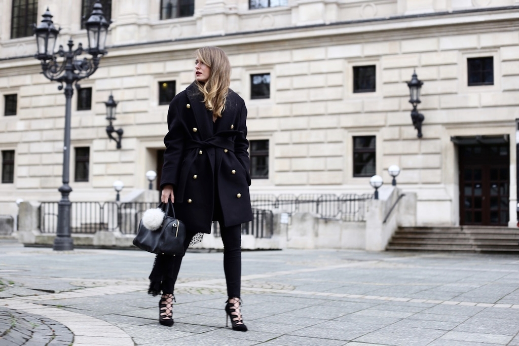 Balmain x H&M Coat And Lace-Up Heels