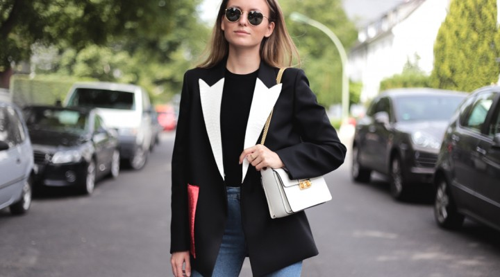 Acne Blazer, Lanvin Jiji Bag & Mom Jeans