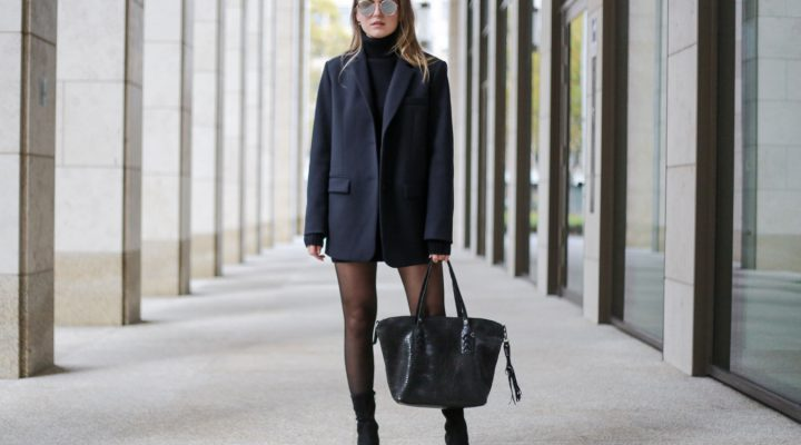 GEORGE GINA & LUCY BAG, KNIT DRESS & BOYFRIEND BLAZER