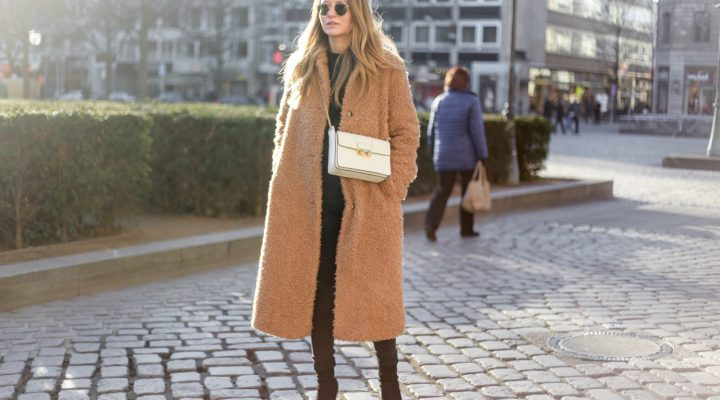 COZY TEDDY COAT & LANVIN BAG
