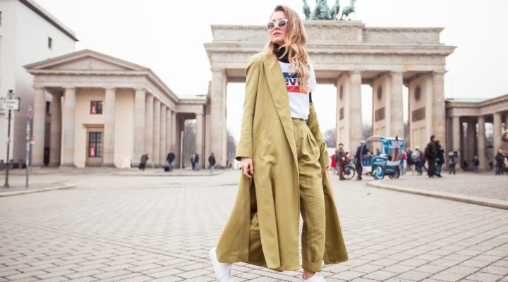 GREEN COORDINATES FOR FASHION WEEK