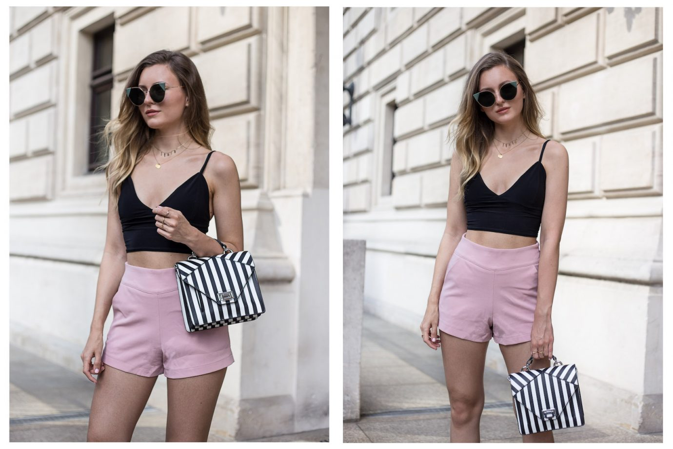 FENDI SUNGLASSES & BUSTIER TOP