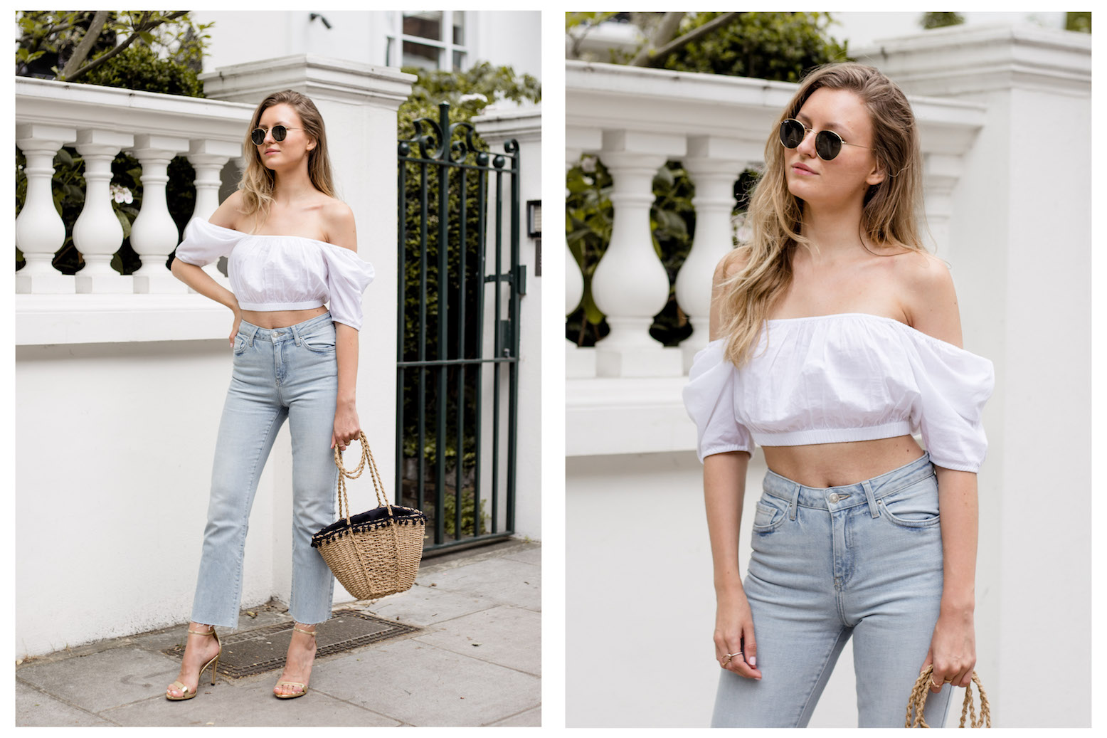 CROP TOP & RAW EDGE DENIM